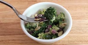 Cranberry Almond Broccoli Summer Salad