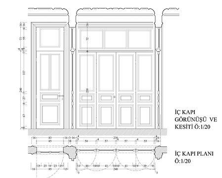 Ahşap Kapı Detayı - Öztek Mimarlık Restorasyon