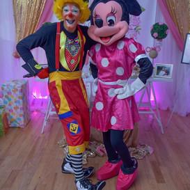 kikito the clown and minnie