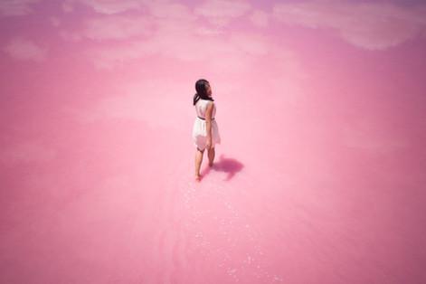 Pink Lake walk