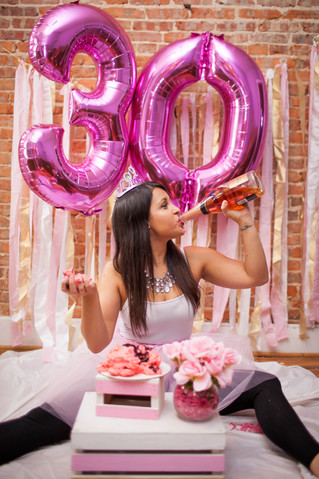 Shay's 30th Cake Smash | Baltimore, Maryland Adult Cake Smash Photographer