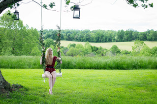 Ms. A Outdoor Boudoir | Rixey Manor, Rixeyville Virginia Boudoir Photographer