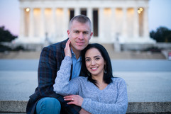 Lincoln Memorial Washington DC engagement photographer