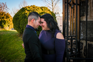 Ariel and Rene | Davis Street, Culpeper Virginia Engageemnt