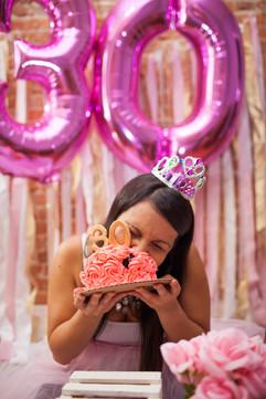 Baltimore Maryland Adult Cake Smash Photographer