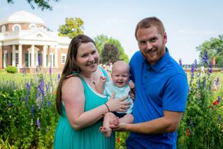 Patrick, Dezzi, & Tristan Family | Monticello, Charlottesville VA Wedding Photographer