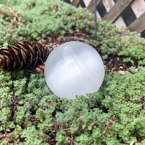 "Selenite Sphere 2"""