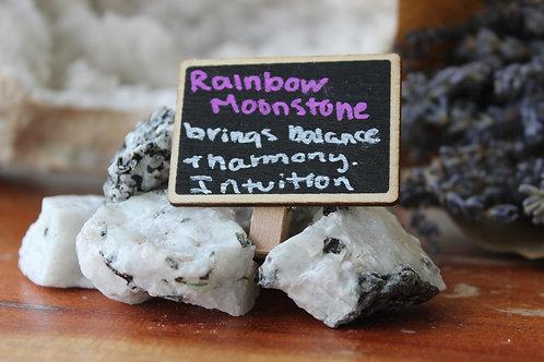 Raw Rainbow Moonstone