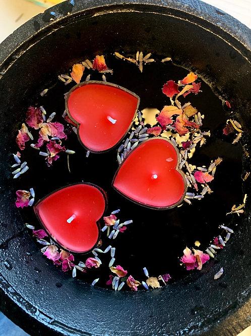 Floating Heart tea light candles