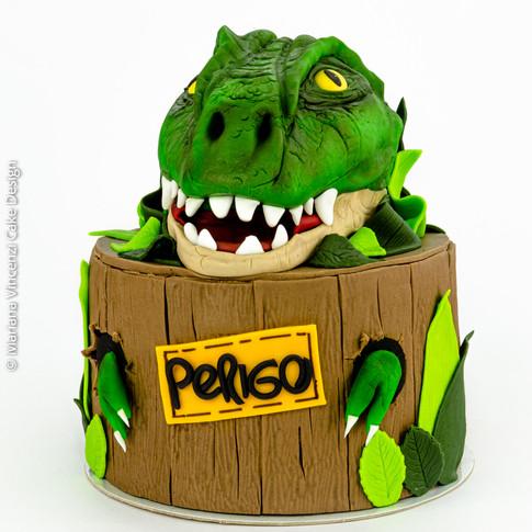 Bolo Dinossauro Modelagem 3D Pasta Americana