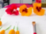 Curso bolo artistico florianopolis, decoração de cupcakes, mini orquideas, Mariana Vincenzi
