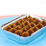 Brownie de Chocolate Barry Callenbaut com cobertura de brigadeiro
