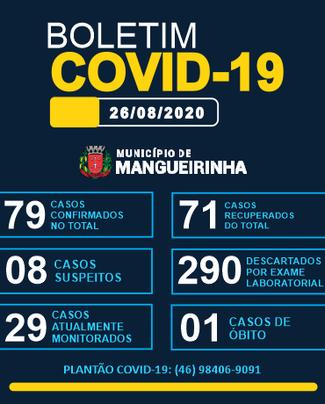 BOLETIM OFICIAL DO COVID-19 26/08/2020
