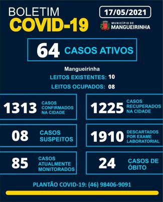 BOLETIM OFICIAL DO COVID-19 (17/05/2021)