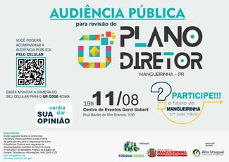 AUDIÊNCIA PÚBLICA - PLANO DIRETOR 11/08 ÀS 19H00MIN