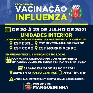 """⚠ CRONOGROAMA DE VACINAÇÃO DA INFLUENZA ⚠💉 Vacina da """"Gripe"""" 💉"""