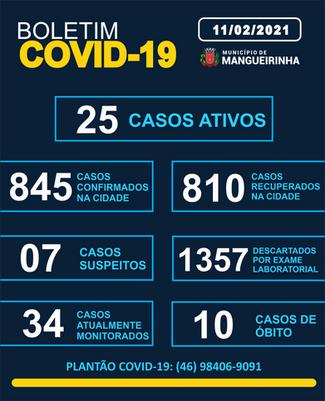 BOLETIM OFICIAL DO COVID-19 11/02/2021