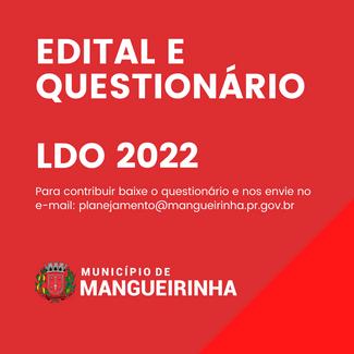 EDITAL E QUESTIONÁRIO LDO 2022