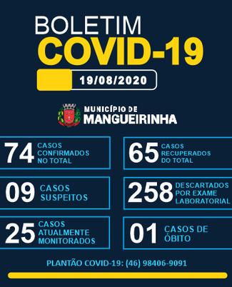 BOLETIM OFICIAL DO COVID-19 19/08/2020