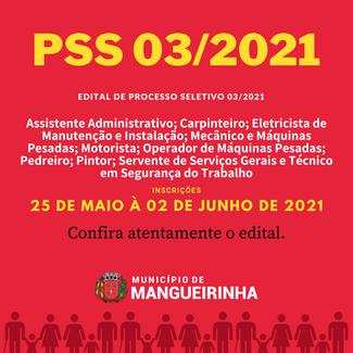 EDITAL DE PSS 03/2021