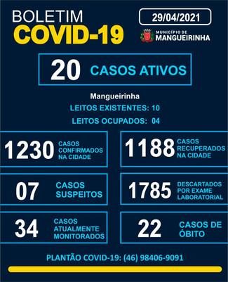 BOLETIM OFICIAL DO COVID-19 (29/04/2021)
