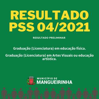 RESULTADO PRELIMINAR PSS 04/2021