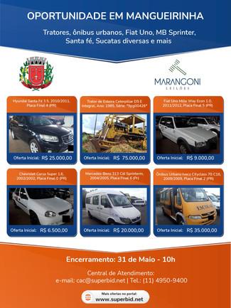 EDITAL DE LEILÃO Nº 001/2021 MANGUEIRINHA - PARANÁ