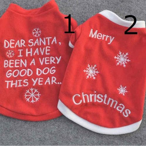 愛犬とクリスマスを楽しもう!クリスマス満喫あったかスウェット!