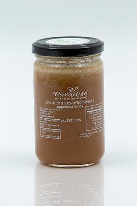 דבש בתוספת פולן, פרופוליס, מזון מלכות 6%.