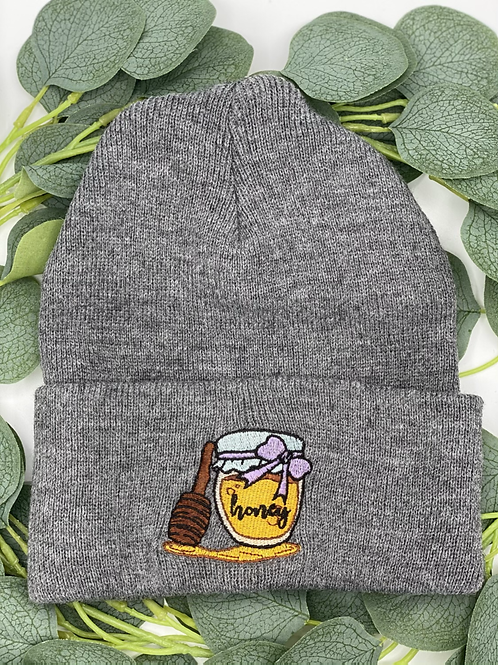 Grey Honey Beanie