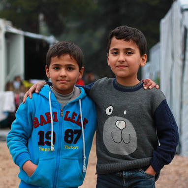 Ibrahim, 10 years old, and Yahya, 8 years old, from Idlib, Syria