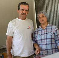 Ali, 51 years old, and Roshin, 41 years old, from Syria