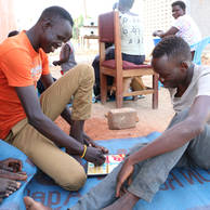Andrew, 20 years old, and Jacob, 18 years old, from South Sudan
