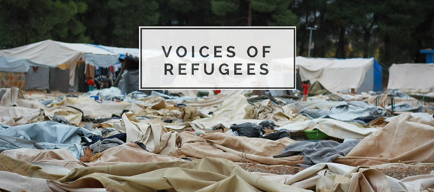Voices of Refugees: A Collection of Stories on Human Displacement, Refugee Camp Logo