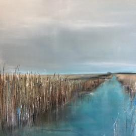 Birdsong on the Marsh 105x105cm framed.jpg