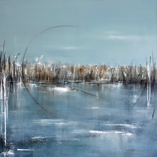 A Place to Watch 105x105cm framed