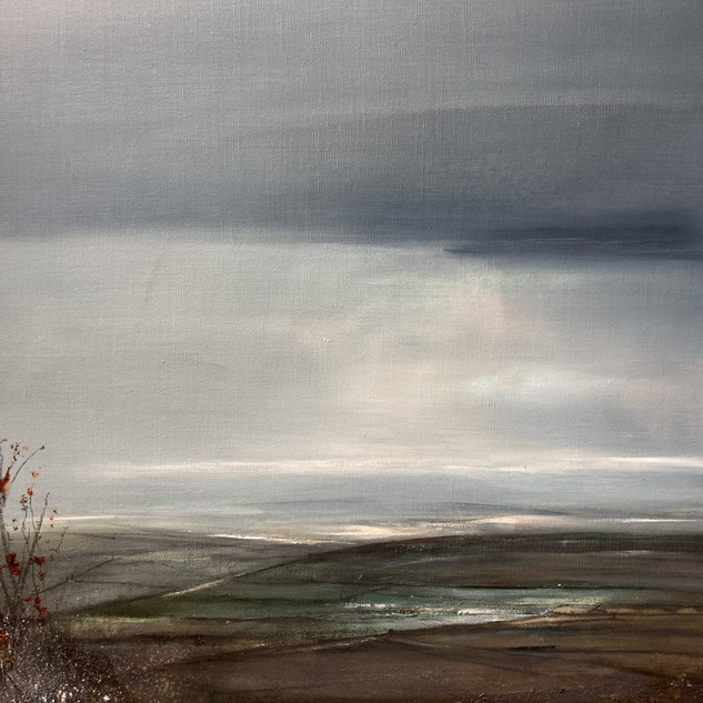 Over Moor and Hill 55x55cm framed