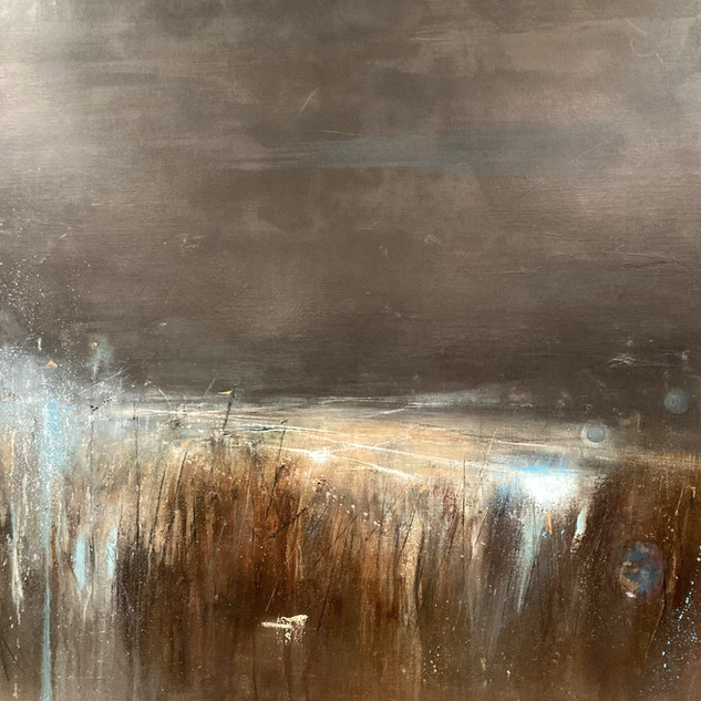 Moonlit Moor 105x105cm framed