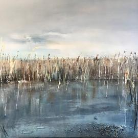 Whispering Reeds 85x85cm