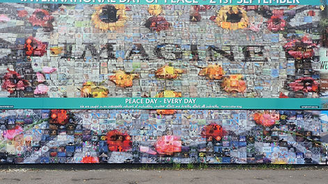 Street Art near the International Wall near  the  Peace Wall in Belfast