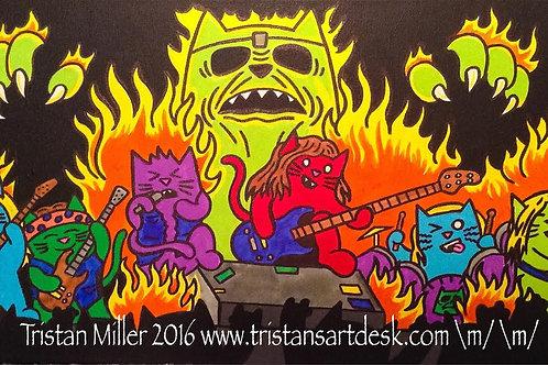 Iron Maiden - Cat style SOLD