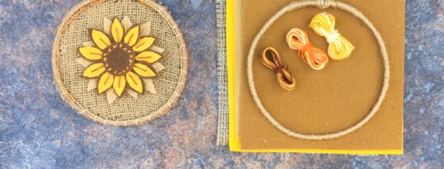 Sunflower Felt appliqué craft kit