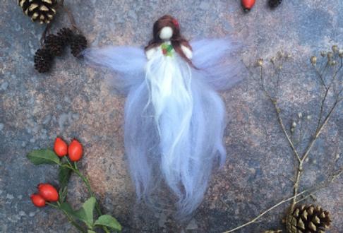 Needle Felting Winter  fairy kit