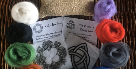 Needle Felting Kit - Celtic Knotwork