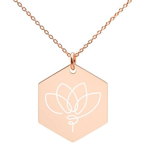 Lotus Hexagon Necklace