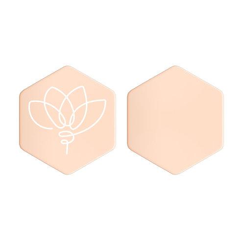 Lotus Hexagon Stud Earrings
