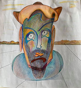 Nostradamus (pen and ink with colored pe