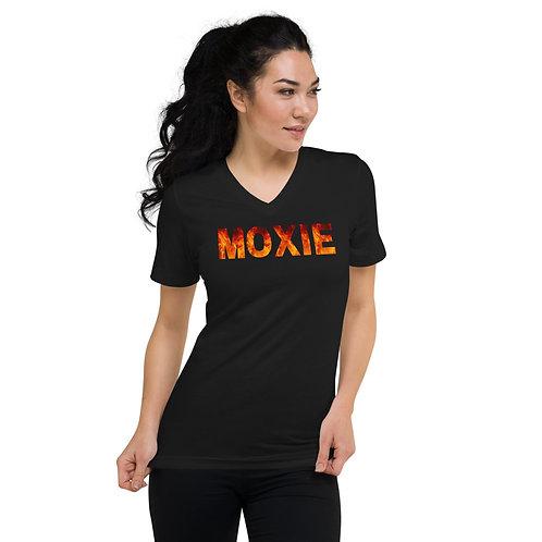 Moxie Unisex Short Sleeve V-Neck T-Shirt
