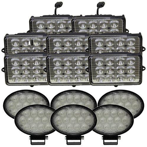 Complete John Deere 9000-STS Combine Light Kit - Rectangular Cab