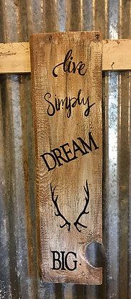'Dream Big' rustic sign